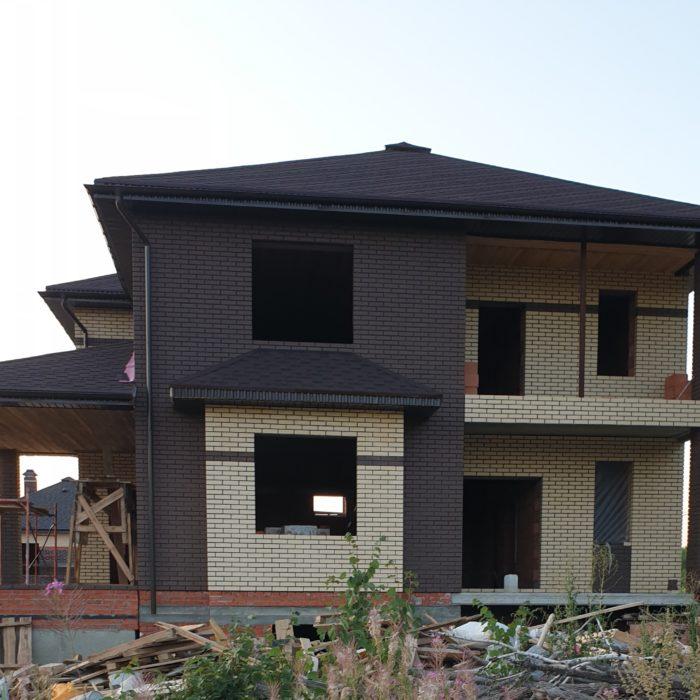 Окончание этапа строительства дома под ключ на 178 кв. метра