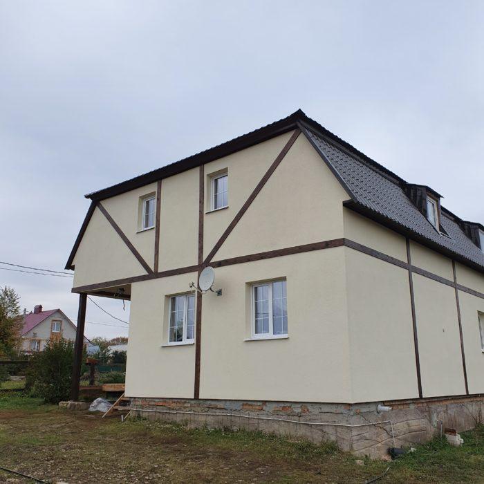 Строим двухэтажный щитовой дом в Пензе (с. Малая Валяевка)