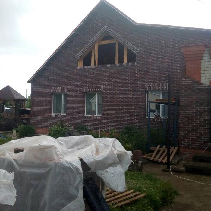 Облицовочные работы на частном доме в Никольске (Пензенская область)