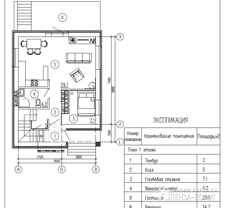 Проект дома Лесхоз Пенза-Дома2